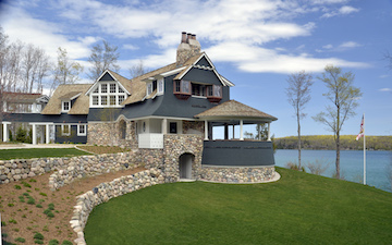 walloon lakefront home